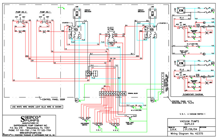 wiring diagram wiring colors & symbols literature & cad library shipco pumps� Motor Control Schematic Diagram Symbols at edmiracle.co